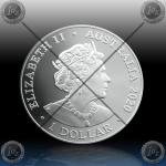 1oz AUSTRALIJA $ 1 DOLLAR 2020 (SPINNER DOLPHIN) BU