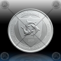 1oz ANGUILLA (ECCB) Two Dollars 2020 (Coat of Arms) BU