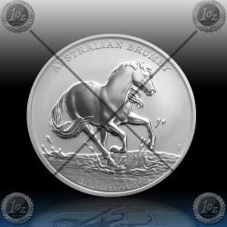 1oz AUSTRALIJA $1 (AUSTRALIAN BRUMBY HORSE) 2020 * BU