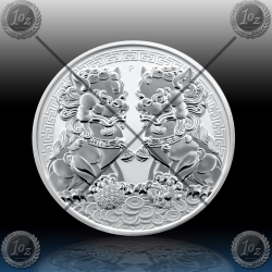 1oz AUSTRALIJA $1 (DOUBLE PIXIU - GUARDIAN LION) 2020 * BU