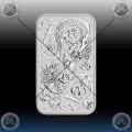 "1oz ""The Perth Mint"" 1 Dollar 2020 (ORIENTAL DRAGON - Rectangular) BU"