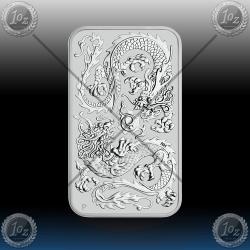 "1oz ""The Perth Mint"" 1 Dollar 2020 (ORIENTAL DRAGON - Rectangular) BU"