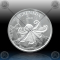 1oz GRENADA 2 Dollars 2020 (REEF OCTOPUS) BU