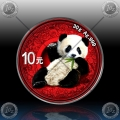 "1oz (30g) KITAJSKA ""Panda"" 10 Yuan 2020 *Ornament Edition* BU"