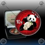 """1oz (30g) KITAJSKA """"Panda"""" 10 Yuan 2020 *Ornament Edition* BU"""