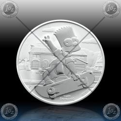 1oz TUVALU $1 (SIMPSONS - Bart Simpson) 2020 * BU