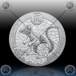 1oz RUANDA 2020 (LUNAR - Year of the Rat) BU