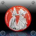 "1oz GERMANIA ""SPACE RED"" 5 Mark 2019 (The Allegories - Britannia & Germania) BU"