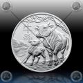 1oz AVSTRALIJA (LUNAR III) 1 Dollar 2021 (Year of the Ox) BU