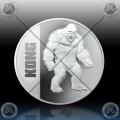 1oz Niue $2 Dollras 2021 - KONG (Godzilla vs. Kong) BU