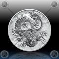 "1oz AUSTRALIJA ""The Perth Mint"" 1 Dollar 2021 (Dragon) BU"