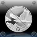 1oz CONGO 20 FRANCS 2021 (World's Wildlife - BALD EAGLE) BU
