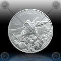 1oz Dominica 2 Dollars 2020 (Hummingbird) BU