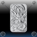 "1oz ""The Perth Mint"" 1 Dollar 2021 (ORIENTAL DRAGON - Rectangular) BU"
