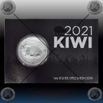 1oz NOVA ZELANDIJA 1 Dollar 2021 (Kiwi - Brown Kiwi) BU