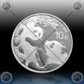 """1oz (30g) KITAJSKA """"Panda"""" 10 Yuan 2021 * BU"""