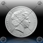 1oz SOLOMON ISLANDS $3.14 Dollars 2021 ( π = 3.14) BU*