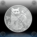 1oz FIJI 50 Cents 2021 (CATS) BU / ProofLike