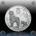 1oz AVSTRALIJA (LUNAR III) 1 Dollar 2022 (Year of the Tiger) BU