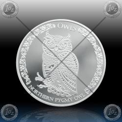 1oz TOKELAU $5 Dollars 2021 (Owls - Northern Pygmy Owl) BU