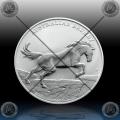 1oz AUSTRALIJA $1 (AUSTRALIAN BRUMBY HORSE) 2021 * BU