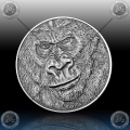 "1oz GHANA 5 Cedis ""GORILA"" 2015 Antique Finish"