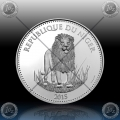 "1oz NIGER 1000 Francs CFA ""LION - LEV"" Prooflike"