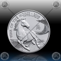 "1oz V. BRITANIJA 2 Pounds 2014 ""Year of the Horse"" UNC"
