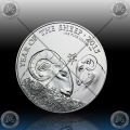 "1oz V. BRITANIJA 2 Pounds 2015 ""Year of the Sheep"" UNC"