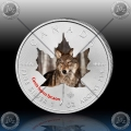 "1oz KANADA $5 Maple Leaf 2014 ""VOLK"" BARVNI"