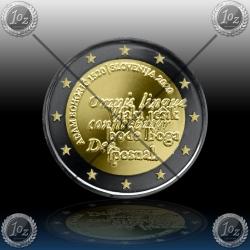 "2 EVRO SLOVENIJA 2020 ""ADAM BOHORIČ"" Black Rhodium + 24k Gold"