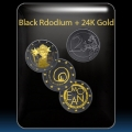 Black Rhodium + Gold