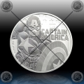 1oz TUVALU $1 (CAPTAIN AMERICA - MARVEL) 2019 *BU