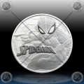 1oz TUVALU $1 (SPIDERMAN - MARVEL) 2017 *BU