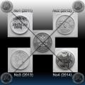 """RUSIJA 4 x 25 Rubles 2011 - 2014 """"Sochi"""""""
