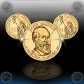 "ZDA $1 (20th. President) 2011 P+D ""James A. Garfield"""