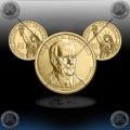 """ZDA $1 (32th President) 2014 P + D """"Franklin D. Roosevelt"""""""