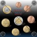 SET kovancev (1 Cent-2€) LATVIJA 2014