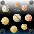 SET kovancev (1 Cent-2€) MONAKO 2001