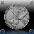 "1oz GABON 1000 Francs "" SNAKE "" 2013"