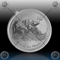 "1/2 oz LUNAR II - 2008  ""Year of the Mouse"""