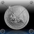 "1/2 oz LUNAR II - 2011  ""Year of the Rabbit"""