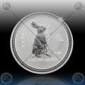 1oz LUNAR I - 1999 Year of Rabbit