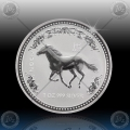 1oz LUNAR I - 2002 Year of  Horse