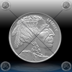 "1oz  ZDA ""INDIAN HEAD"" LIBERTY - Silver Round"
