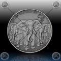 "1oz GHANA 5 Cedis ""SLONI"" 2013 Antique Finish"