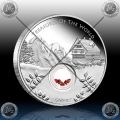 1oz TREASURES OF THE WORLD - EUROPE (LOCKET COIN WITH GARNET) 2013