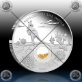 1oz TREASURES OF THE WORLD - AUSTRALIA (LOCKET COIN WITH GOLD) 2014