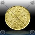 "V. BRITANIJA 25 Pounds (1/4 Oz Gold) 2016 ""LION of ENGLAND"" UNC"