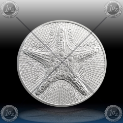 "1oz COOK ISLANDS $1 ""STARFISH"" 2019 *UNC"